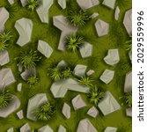 stone grass seamless pattern ...