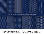 collection of blue minimalistic ... | Shutterstock .eps vector #2029574813