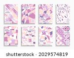 collection of abstract colorful ... | Shutterstock .eps vector #2029574819
