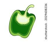 red pepper. paprika...   Shutterstock .eps vector #2029608236