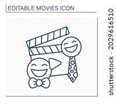 comedy movie line icon. plot... | Shutterstock .eps vector #2029616510