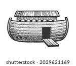 Noah's Ark Sketch Engraving...