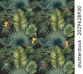 beautiful bright birds in the...   Shutterstock . vector #2029628930