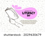 international literacy day with ... | Shutterstock .eps vector #2029630679