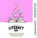 international literacy day with ... | Shutterstock .eps vector #2029630709