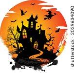 creepy halloween design with...   Shutterstock .eps vector #2029634090