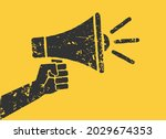 megaphone music flat style icon ... | Shutterstock .eps vector #2029674353