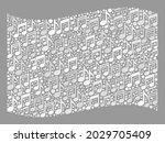 mosaic waving white flag... | Shutterstock .eps vector #2029705409