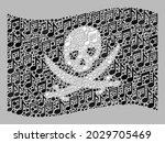 mosaic waving pirate flag...