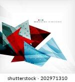 3d futuristic shapes vector... | Shutterstock .eps vector #202971310