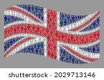 mosaic waving united kingdom... | Shutterstock .eps vector #2029713146