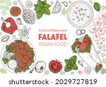 falafel cooking and ingredients ... | Shutterstock .eps vector #2029727819