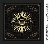 the eye of providence in... | Shutterstock .eps vector #2029733156