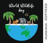world wildlife day. happy... | Shutterstock .eps vector #2029735310