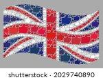 mosaic waving united kingdom... | Shutterstock .eps vector #2029740890