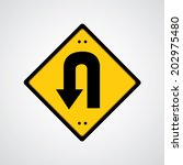 vector return symbol yellow... | Shutterstock .eps vector #202975480
