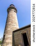 Erie Land Lighthouse in Erie, Pennsylvania on the shores of Lake Erie