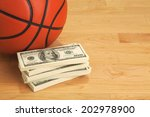 basketball and stack of one... | Shutterstock . vector #202978900