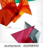 3d futuristic shapes abstract... | Shutterstock . vector #202988950