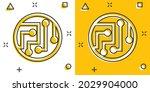 circuit board icon in comic...   Shutterstock .eps vector #2029904000
