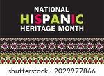 national hispanic heritage...   Shutterstock .eps vector #2029977866
