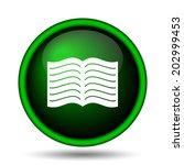 book icon. internet button on... | Shutterstock . vector #202999453