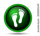 foot print icon. internet... | Shutterstock . vector #203000149