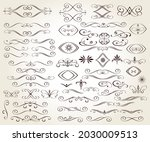 set of decorative elements for... | Shutterstock .eps vector #2030009513
