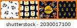 a set of cards for halloween... | Shutterstock .eps vector #2030017100