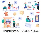 shopping people isolated...   Shutterstock .eps vector #2030023163