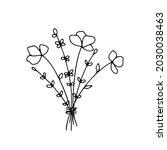 hand drawn line art vector... | Shutterstock .eps vector #2030038463