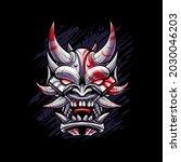 Japanese Devil Mask Vector...