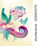summer season | Shutterstock .eps vector #203005270