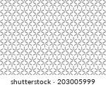 abstract hexagonal pattern.... | Shutterstock .eps vector #203005999