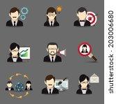 business people global teamwork ... | Shutterstock .eps vector #203006680