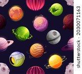 cartoon space futuristic... | Shutterstock .eps vector #2030071163