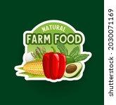 farm vegetables badge or icon.... | Shutterstock .eps vector #2030071169