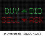stock exchange board  buy  sell ... | Shutterstock .eps vector #2030071286