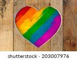 Love Valentines Heart Wooden...