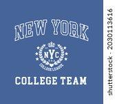 new york college varsity slogan ...   Shutterstock .eps vector #2030113616