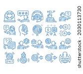 telemarketing sale sketch icon...   Shutterstock .eps vector #2030113730
