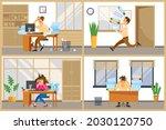 missing deadline  bad time... | Shutterstock .eps vector #2030120750