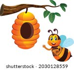 honey bee protection campaign...   Shutterstock .eps vector #2030128559