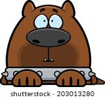Cartoon illustration of a guard dog with a spiked collar and an alert expression. - stock vector