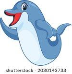 cute dolphin cartoon vector art ...   Shutterstock .eps vector #2030143733