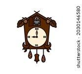 black forest cuckoo clock... | Shutterstock .eps vector #2030146580