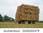 Flatbed Bale Wagon On The Field ...