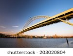 fremont bridge with the largest ... | Shutterstock . vector #203020804