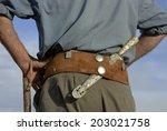 gaucho  argentinian cowboy ... | Shutterstock . vector #203021758