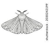 decorative fantastic moth.... | Shutterstock .eps vector #2030242199